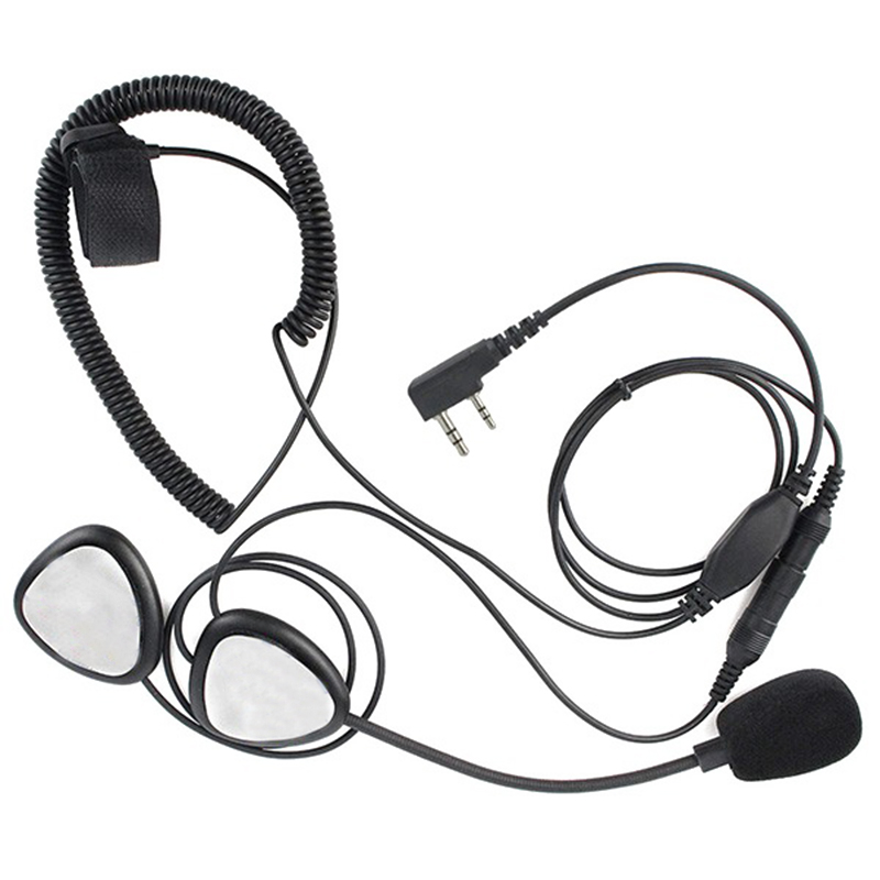 2 Pin Finger Ptt Motorcycle Helmet Radio Headset Microphone For