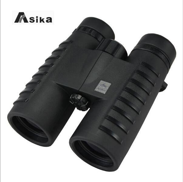 Asika Binoculars 10x42 Camping Hunting Scopes with Neck Strap Carry Bag Telescopes Bak4 Prism Optics Binoculares 304ft/1000yds цена