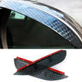 Car Styling Carbon rearview mirror rain eyebrow Rainproof  Flexible Blade Protector Accessories For Subaru Outback 2013-2014