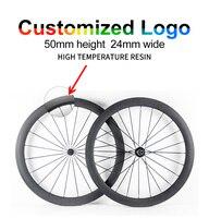 700C UD дороги углерода колеса 24 мм ширина 50 мм Глубина Clincher углерода колеса велосипеда колесная могут быть выполнены по индивидуальному заказ