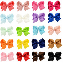 40pcs/lot 10CM Hair Bows With Clips Kids Bowknots Boutique Ribbon Bow Hair Clip Hairpins DIY Hair Accessories For girls