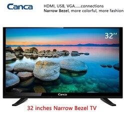شحن مجاني 19/22/24/32 بوصة حافة LED LCD التلفزيون 16:9 المسح التقدمي 1366*768 ستيريو الصوت HDMI المنزل/جهاز تليفزيون بالفندق