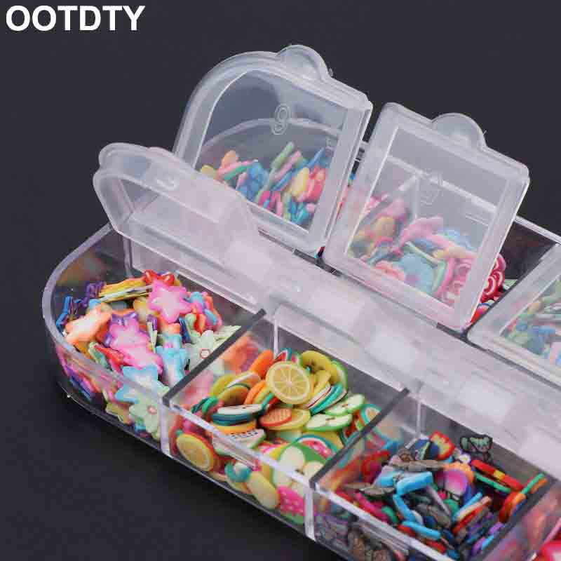 Slime Beads Box Fruit Slice Sprinkles Slime Filler For Handgum Foam Fluffy Slime Clay Mud DIY Supplies Decoration Toys