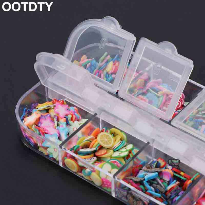 Slime Beads Box Fruit Slice Sprinkles Slime Filler For Handgum Foam Fluffy Slime Clay Mud DIY Supplies Decoration Toys