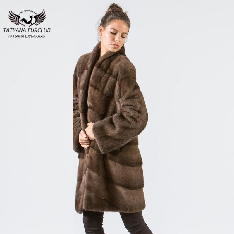 Manteaux Coffee Mode Manteau Vison Véritable Longue Nouveau Cm Chaud 2018 90 Outwear La Venir De Femmes Peau D'hiver Fourrure Toute Cuir En Tatyana 87BqwSUPWW