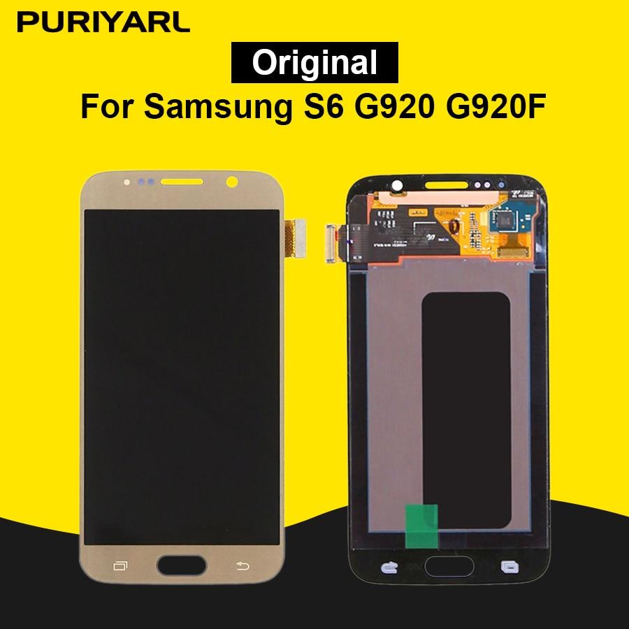 AAA Original Pantalla LCD Affichage Pour Samsung Galaxy S6 G920 G920F LCD Écran Tactile Remplacement Digitizer Assemblée Super AMOLED
