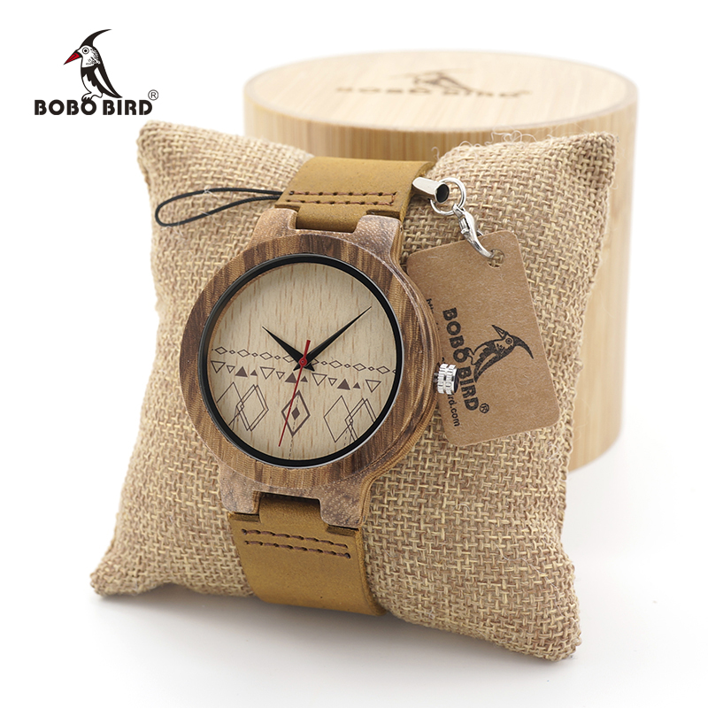 BOBO BIRD Men's Design Brand Luxury Wooden Bamboo Watches With Real Leather Quartz Watch for Men In Gift Box bobo bird wf10 new maple wood watch pine wooden top brand luxury quartz watches for men with gift box relojes mujer oem
