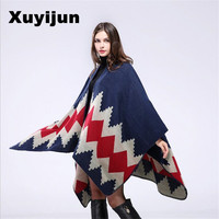 XUYIJUN Scarves Women Scarf Cashmere Pashmina Ponchos And layers Top Quality Plaid For Ladies For Dress Luxury Brand Scarves