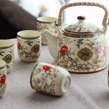 fashion Ceramics 7pcs tea set (1 teapot six cups) High quality sets drinkware Chinese porcelain kungfu tools