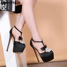 GBHHYNL bow sandals Open Peep Toe Buckle Shallow Pumps Ankle Strap High Heel Stiletto Sandals for Dress Party Wedding LJA748