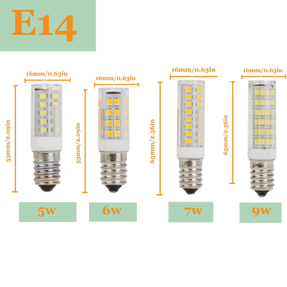 E14 LED Lamp SMD2835 5W 6W 7W 9W 220V Ceramic Led Bulb Replace 30W 40W 50W 60W Halogen Light For Chandelier Home Lighting