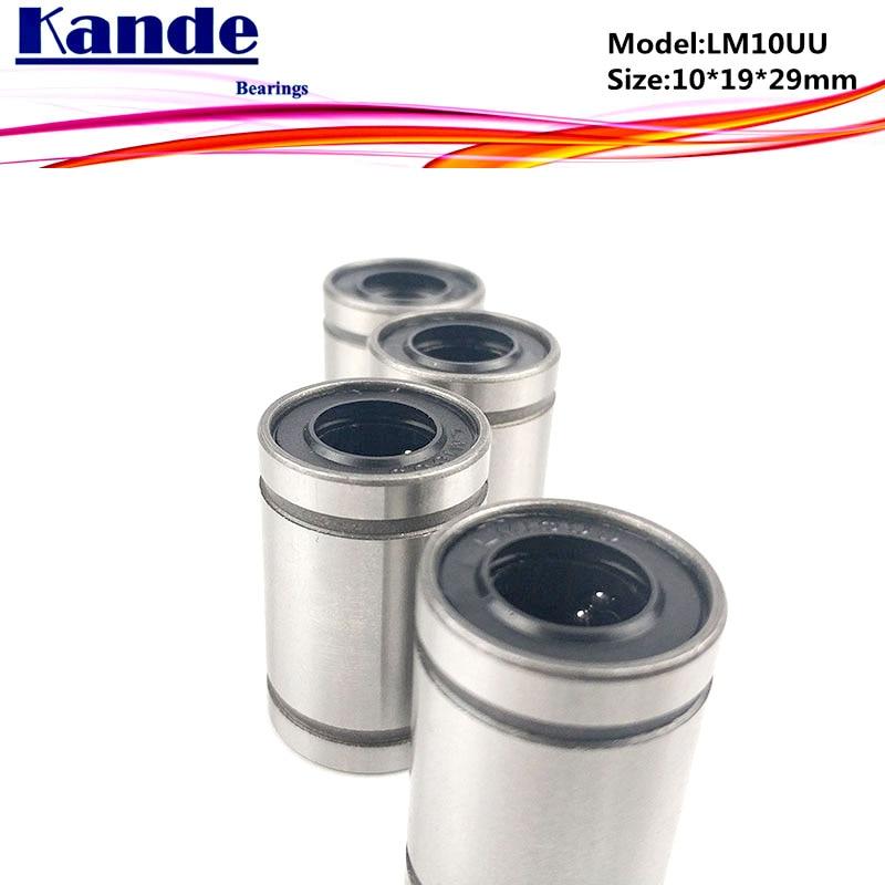 LM10UU  1pc High Quality  LM10 Linear Bearing  10x19x29 Mm LM10 UU  For 3d Printer  Linear Bearing SM10UU
