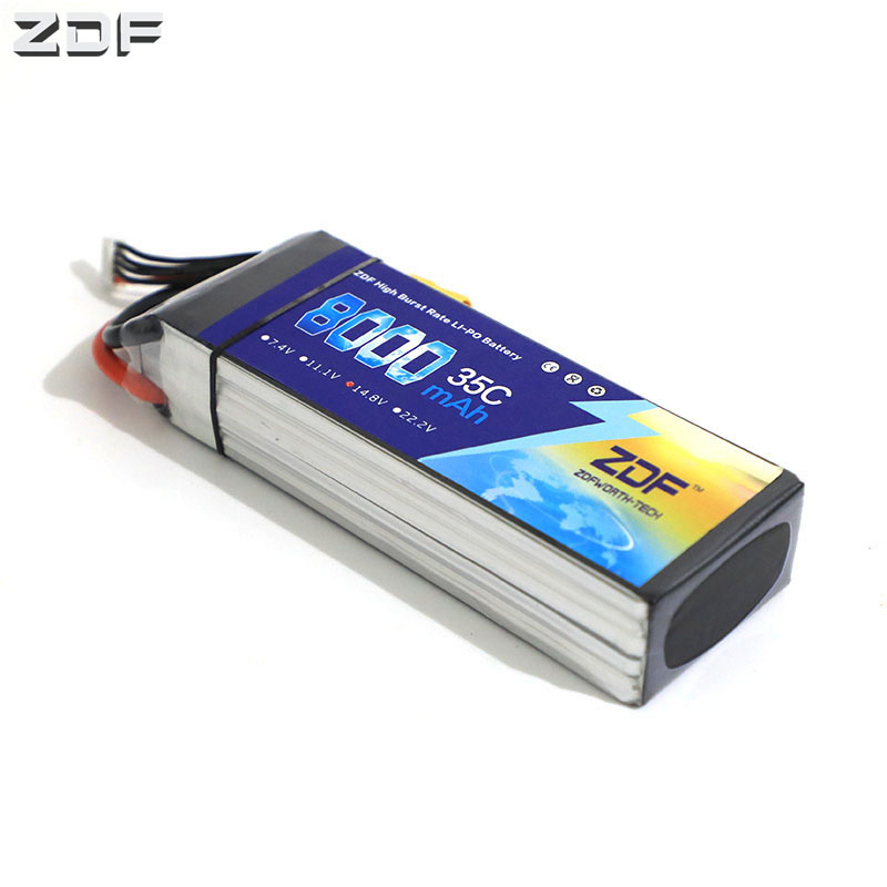 ZDF <font><b>LiPo</b></font> Battery 3.7V 7.4V 11.1V 14.8V 18.5V 22.2V 2S <font><b>3S</b></font> 4S 5S 6S <font><b>8000mah</b></font> 6S 35C 70C for RC Helicopter Airplane Car Boat Drone image
