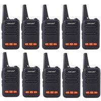 10 шт. TD M9 Портативный Мини Walkie Talkie 16ch UHF400 480MHz радиолюбителей дети радио игрушки рация КВ трансивер подарок