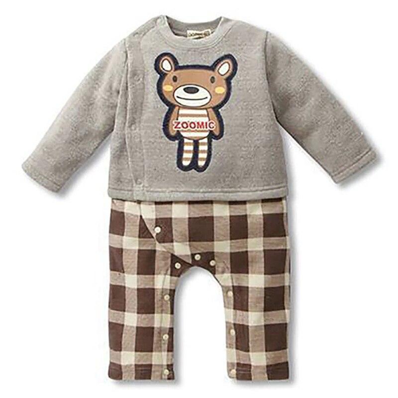 Winter Style Baby Boy Romper Nyfødt Baby Tøj Originalitet bære Tøj Ropa Bebe Børn Rompers 2farver 1stk HB011