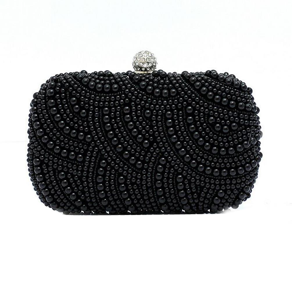 c763ba640b 2016 Rushed Women Handbags Women s Pearl diamond evening Clutch Bag Two  Ladies Exquisite Sides Beaded Wedding Purse Wallet