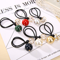 New Lovely Hollow Rhinestone Round Ball Elastic Hair Bands Hair Rope Headbands for Women Girls Hair Accessories