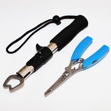 22cm 118g Stainless Steel Fish Grip Lure Clamp Hand Controller Holder Fishing Lip Suits Gripper Pliers Fishing Tackle