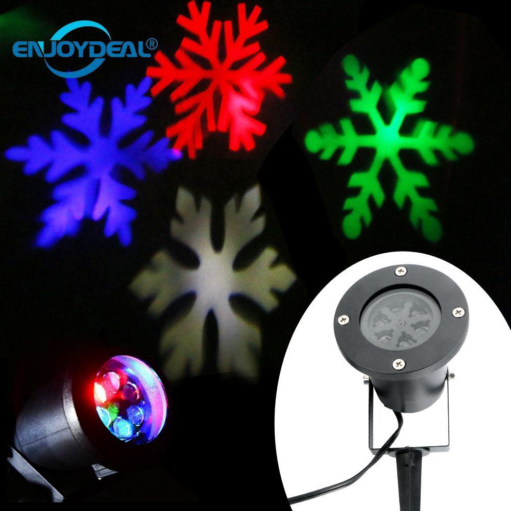 Waterproof Christmas Laser Snowflake Projector Outdoor LED Lamp Waterproof Disco Lights Home Garden Star Light Indoor Decoration