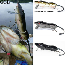 CCL Jointed Rat Fishing Lure 152.5mm 96g Quality Wobbler Minnow Bait for Bass, Pike Fishing Tackle Retail Hard Rat Baits diving distant baits big bait pike bait wobbler fishing tackle insect bait fake black hard baits bass beaded nightlight baits