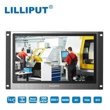 Lilliput TK1330 NP/C 13.3 inch LED Displays Metal Housing Open frame Industrial Monitor HDMI, VGA, DVI & A/V inputs