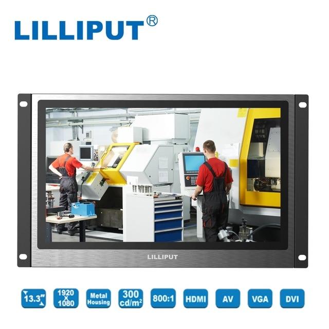 ליליפוט TK1330 NP/C 13.3 inch LED מציג דיור מתכת מסגרת פתוחה צג תעשייתי HDMI, VGA, DVI & A/V תשומות