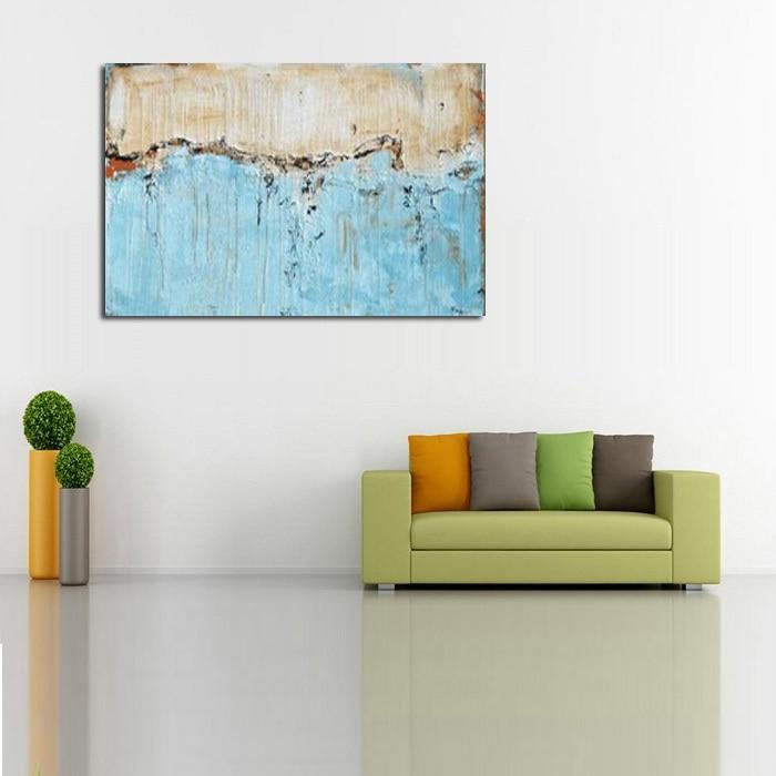 comprar gran lienzo pintura al leo abstracta moderna cocina saln cuadro de la pared pintada a mano del paisaje del arte de la pared