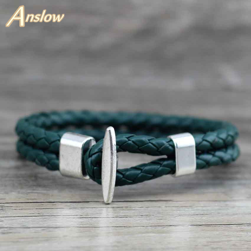 Anslow 2017 Vinatge Style Smykker Charm Wrap Armbånd Bangles For Women Menn Unisex Retro New Items Best Friendship LOW0236LB