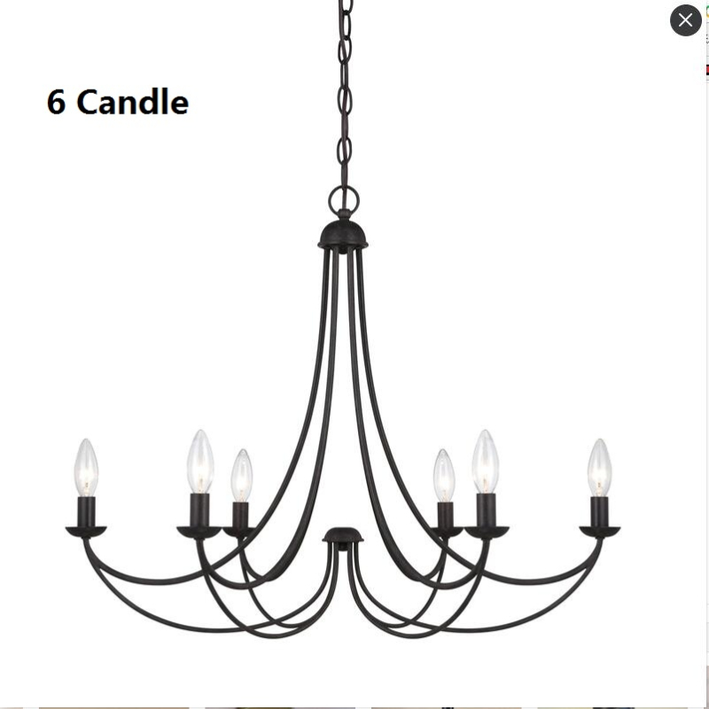 Retro 5 Candle Chandelier Lighting For Dining Room Bedroom  American village Light Hanging Fixtures Lustre wedding decoration