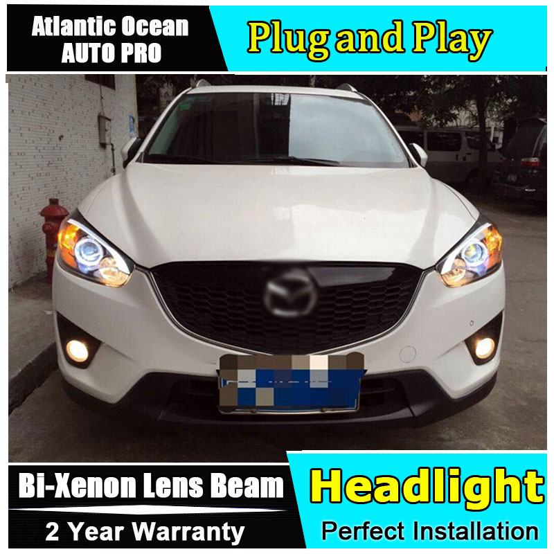 For Mazda CX 5 headlights 2013 2016 HID KIT for CX 5 headlamps LED bi xenon