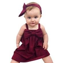 Baby Girls Dress Summer Beach Style Party Backless Dresses For Girls Vintage Toddler Girl Clothing  Vestido