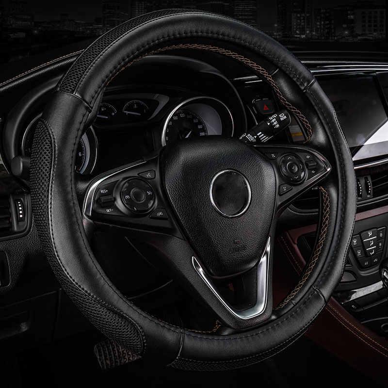 Mobil steering wheel cover Anti-Slip Otomotif styling untuk Kia mohave niro picanto rio 3 k2 k3 K4 k5 k7 optima spectra kx5 carens