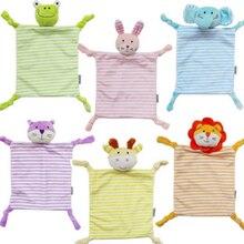 Newborn Toddler Kids Plush Towel Toy Cartoon Cat Rabbit Animal Rattle Toy Baby Sleeping Newborn Stuffed Dolls Comfort Towel