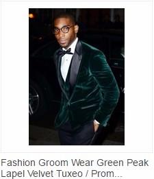 Green velvet tuxedos