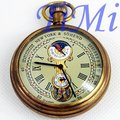 1882'S NY турбийон чистой меди антикварные карманные часы