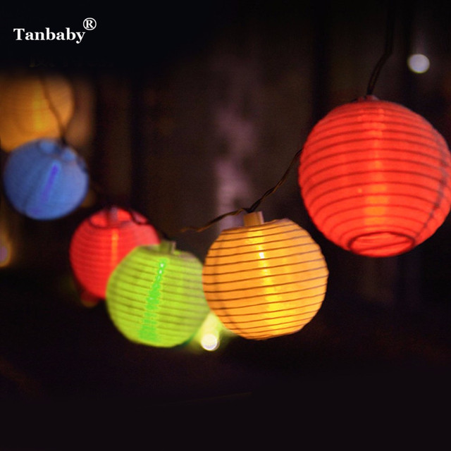 Tanbaby Christmas Solar Panels Lampion Outdoor Home Luces