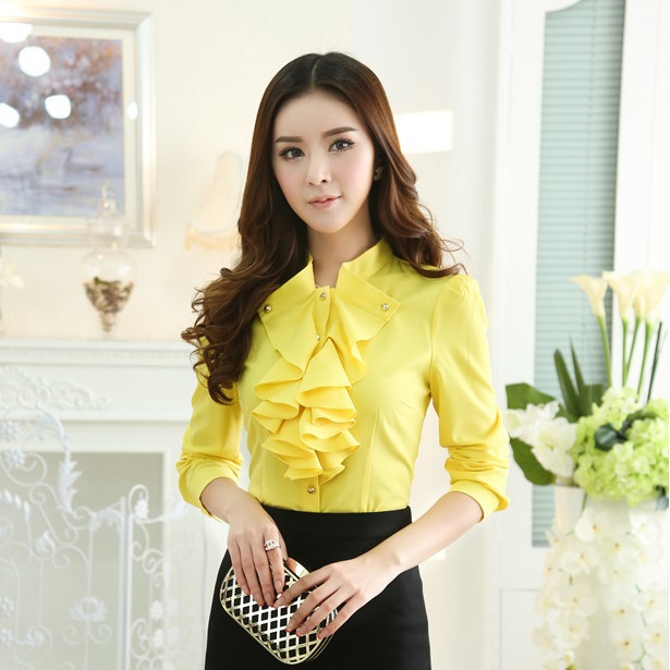 41f7c383dc US $19.8  Spring 2015 New Fashion Red Blouse Women OL Female Long Sleeve  Work Blouses for Ladies Tops Plus Size Free Shipping-in Blouses & Shirts  from ...