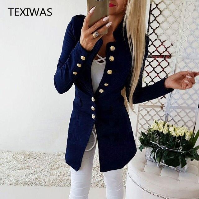 TEXIWAS пиджак женский пиджаки Для женщин однобортный Кардиган Для женщин пиджак тонкие ветровки Топы Офисные женские туфли элегантная Рабочая блейзер