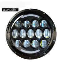 2PCS 7Inch Round LED Halo Projector Headlight with DRL Amber Turn Light for Jeep Wrangler CJ JK LJ CJ Hummer