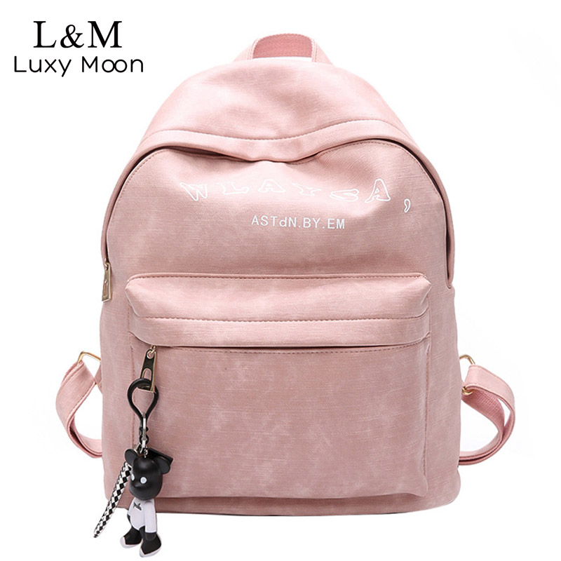 Black Backpack Women Travel Large Backpacks 2017 Teenage Girls School Bags PU Leather Pink Students Letter Bag mochila XA1181H stuffed animal 88 cm plush lying tiger toy white tiger doll great gift w493