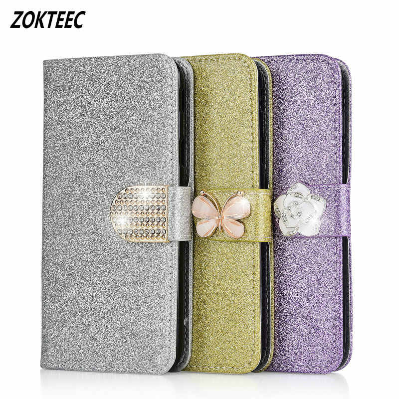 Luxury Glitter Flip Phone Cover Case For Xiaomi Redmi Note 6 7 Pro Prime For Redmi 5A 6A 6 Wallet Card Stand Magnetic Book Cover