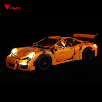 Led Light Set For Lego 42056 Porsche technic race Car Compatible 20001 3368 Building Blocks Bricks Toys (only light+Battery box)