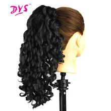 Deyngs 20inch Short Bouncy Curly Claw in Ponytail Hair Extensions Fake Hair Pony Tail Hair Piece Red/Black/Brown Tress For Women