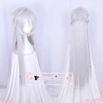 Black Butler Kuroshitsuji Under Taker Undertaker 110cm Long Silver Color Heat Resistant Hair Cosplay Costume Wig + Free Wig Cap - DISCOUNT ITEM  5% OFF All Category