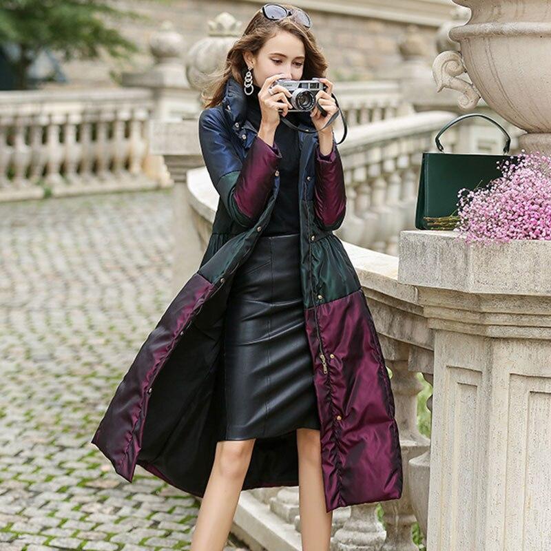 Confortable Colors Femmes Haute Longues Taille 2019 Qualité Élégant Nouvelle Black Doudoune Manches À De mixed Grande Female31 Mode 4xl q6EfwURR