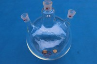 5L 3-neck Round bottom flask, 5000ml, Joint 24/29,heavy wall (Lab instrument)
