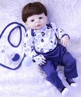 57cm FULL silicone reborn babies doll bathe boy reborn modeling play house toy pretty bebe alive kids birthday gift bonecas