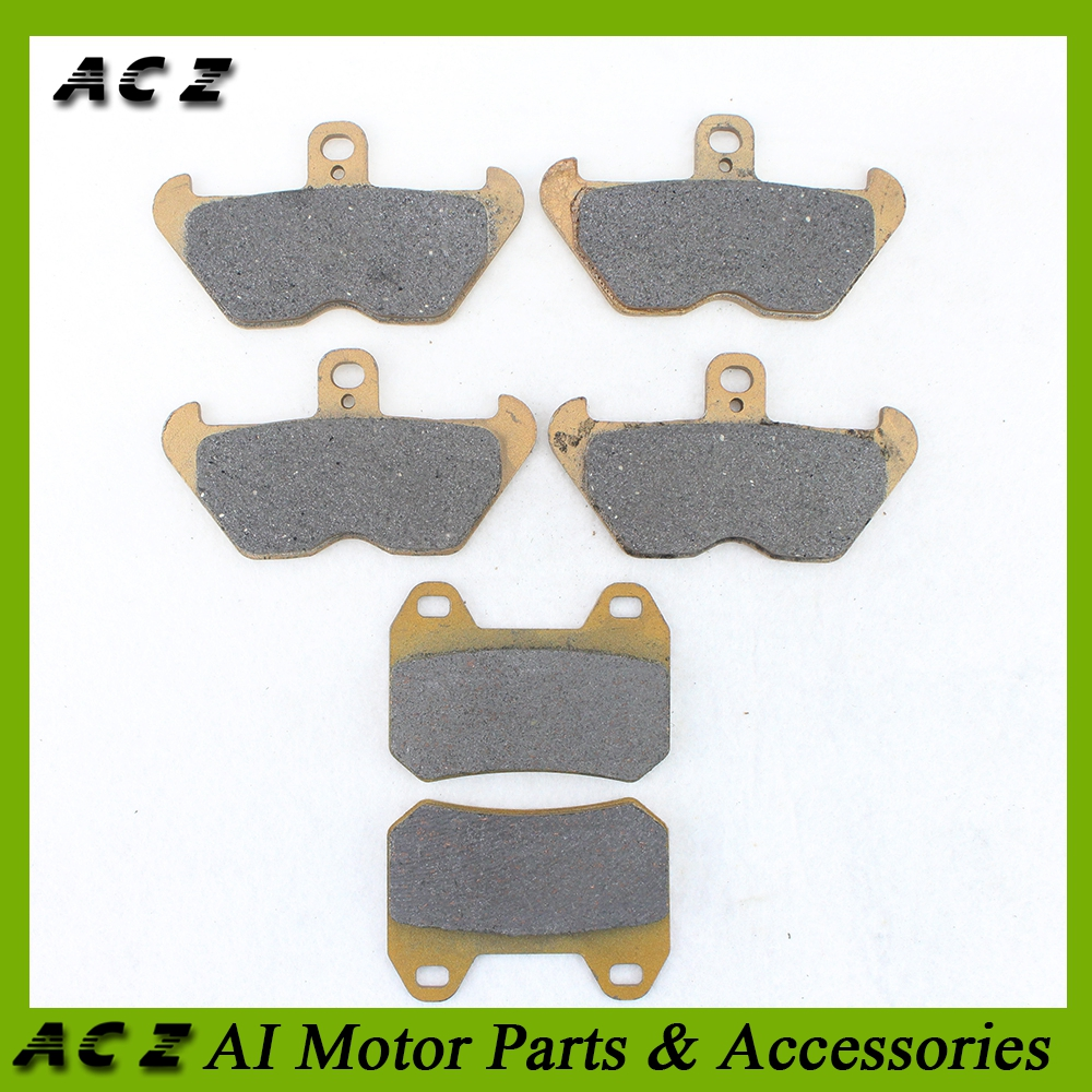 ACZ Motorcycle Replacement Brake Parts Front+Rear Brake Pads Set Disc Carbon Brake Pad For BMW K1200LT K1200 LT 2001-2009 image