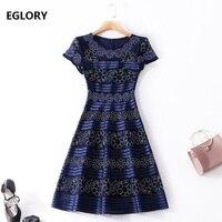 Plus Size 3XL Floral Lace Vintage Summer Dress Women Sequined Mesh Embroidery Retro Tunic Dresses A Line Party Elegant Dress
