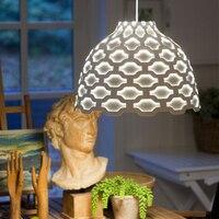 Современный LC жалюзи подвесной светильник скандинавского дизайна свет дома столовая ресторан отель Лофт бар офисная подвеска металлическ
